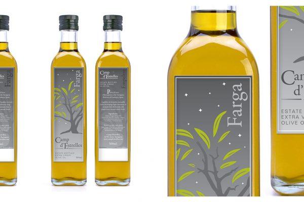 Camp d'Estrelles Olive Oil Packaging & Label